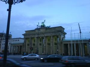 La maravillosa Puerta de Brandemburgo de Berlín.