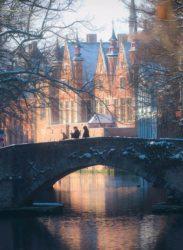Los bellos canales de Brujas