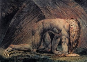 Una impresionante obra del pintor William Blake.