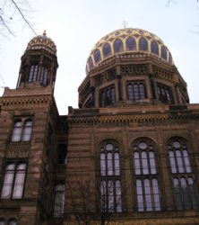 Fachada de la Nueva Sinagoga de Berlín