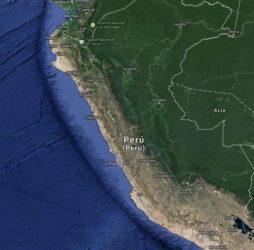 Mapa satélite de Perú