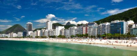 Famosa mundialmente la playa de Copacabana de Río de Janeiro, es un sitio para el disfrute