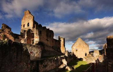 Waldkirch es un pueblo donde destaca un castillo en ruinas