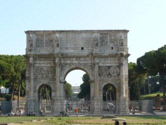 El gran arco de Constantino esta en buen estado