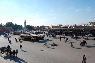 La plaza de Jemaa el Fna en Marrakech es uno de sus símbolos.