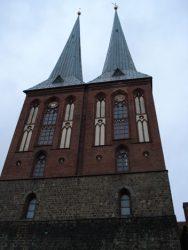 Original fachada de la iglesia de San Nicolás