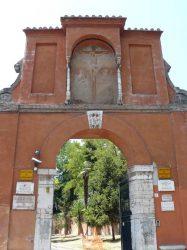 Entrada a las catacumbas de San Pancracio en Trastevere