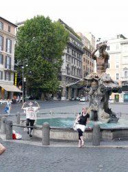 La fuente del Tritone de Bernini en la Piazza Barberini