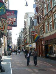 Las banderas gays las encontramos en muchos puntos de la ciudad