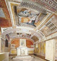 Imagen de las grutas vaticanas, donde esta la tumba de San Pedro