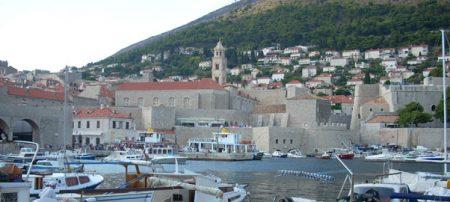 El famoso puerto viejo de Dubrovnik
