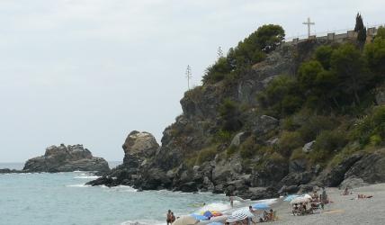 Vista de parte de la costa de la localidad de Almuñécar, desde el Castillo de San Miguel.