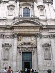 Fachada barroca de la iglesia de San Ignacio de Loyola