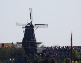 Uno de los preciosos ocho molinos de viento de Ámsterdam