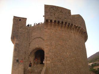 La imponente torre minceta, la más alta de todas