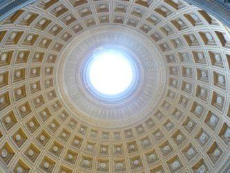 Una de las cúpulas que podemos observar en un palacio Vaticano