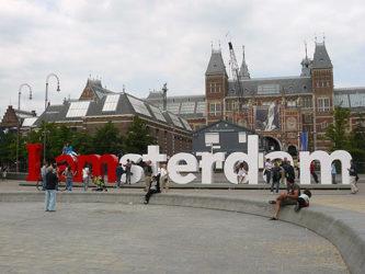 El famoso I amsterdam que encontramos en Museumplein.