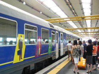 El tren Leonardo Express en Fuimicino
