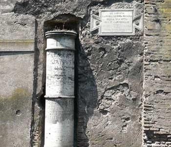 Vía Appia Antica o vía antigua de Roma