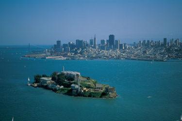Panorámica de Alcatraz y San Francisco al fondo