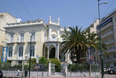 Bello edificio que alberga el museo de Arte Cicládico