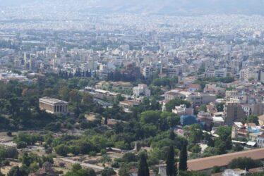 Preciosa mirada del Ágora desde el Templo de Hefesto