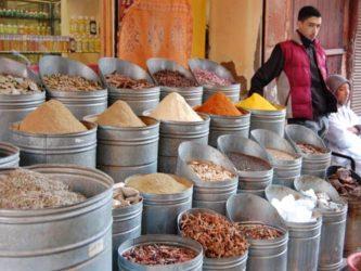 Las especias son otra de las compras típicas en Marrakech.