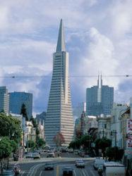 Podemos descubrir grandes edificios como el Transamerica Pyramid.