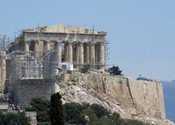 El Partenon visto camino de Filopapo