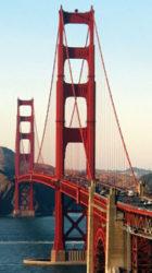 Mirada en perspectiva del famoso puente colgante de San Francisco