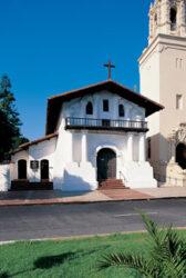 Vista del templo llamado Mission Dolores, el más antiguo de la ciudad.