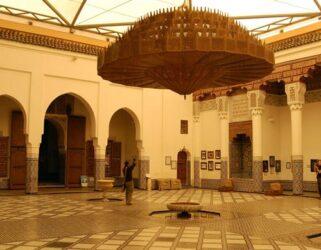 El imponente patio del interesante museo de Marrakech