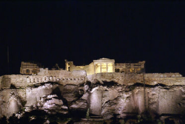 La Acrópolis de noche es una visión muy especial