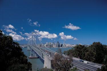 El otro gran puente de la ciudad, el Bay Bridge.