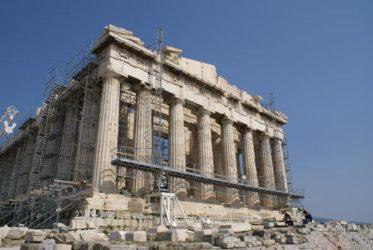 El precioso Partenón en plena restauración