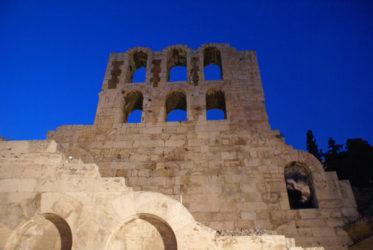Vista de la Acrópolis desde el Templo de Zeus