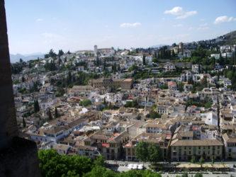 Perspectiva del Albaicín desde la Alhambra