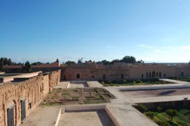Vista panorámica de la parte central del palacio El Badi