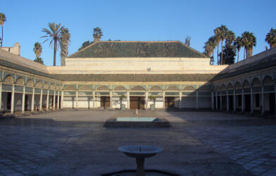 Hermoso el gran patio central del palacio Bahía