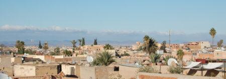 Los tejados de Marrakech vistos desde lo alto del palacio El Badi