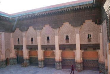 Una de las fachadas interiores con las ventanas de las celdas