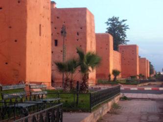 Una de las zonas bonitas de las murallas de Marrakech