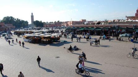 La gran plaza Jemaa el Fna siempre nos llama la atención