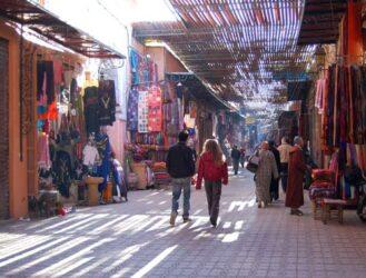 Una de las partes del zoco dedicado a la ropa y al textil