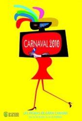 El colorido cartel del Carnaval de Las Palmas 2010