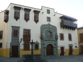 La hermosa Casa Museo de Colón de las Palmas