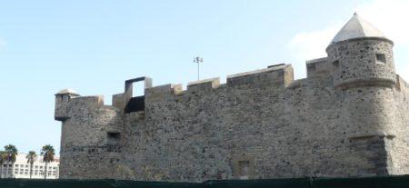 Vista del Castillo de La Luz está situado cerca del mar