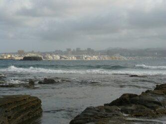 Las Canteras se puede ver desde la playa El Confital