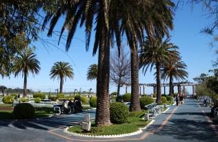 Los hermosos jardines Piquio donde da gusto pasear y descansar