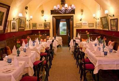 Vista del interior del restaurante Der Kuckuckm de Viena, donde podemos comer.